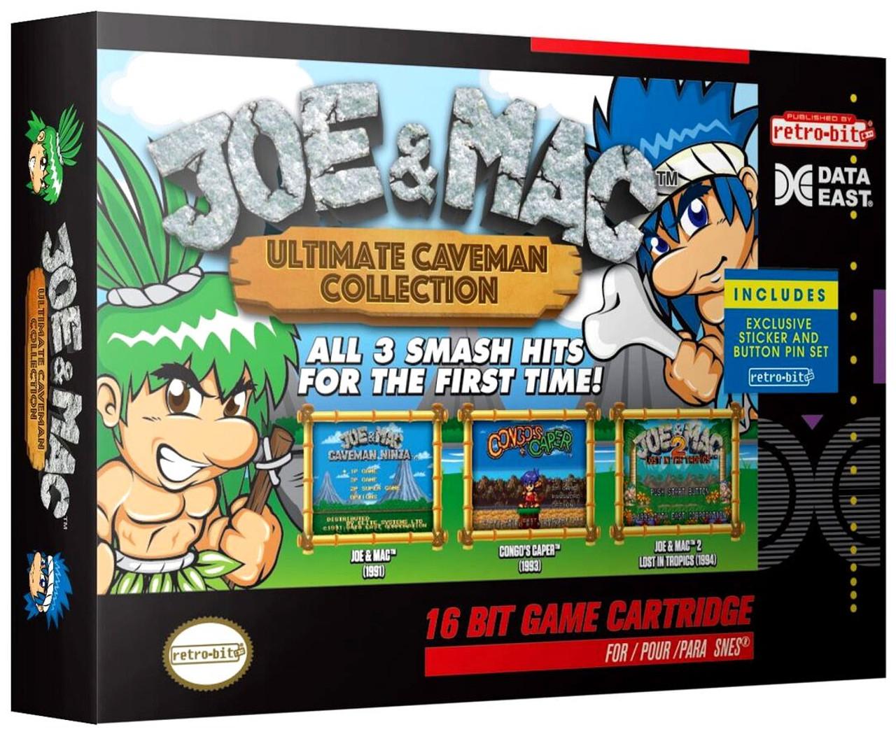 Data East Snes Data East Joe And Mac Collection Video Game Cartridge 3 Games Retro Bit Toywiz
