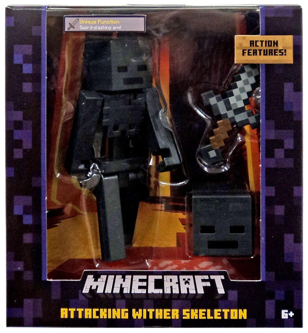 Minecraft Attacking Wither Skeleton 5 Action Figure Mattel Toys Toywiz