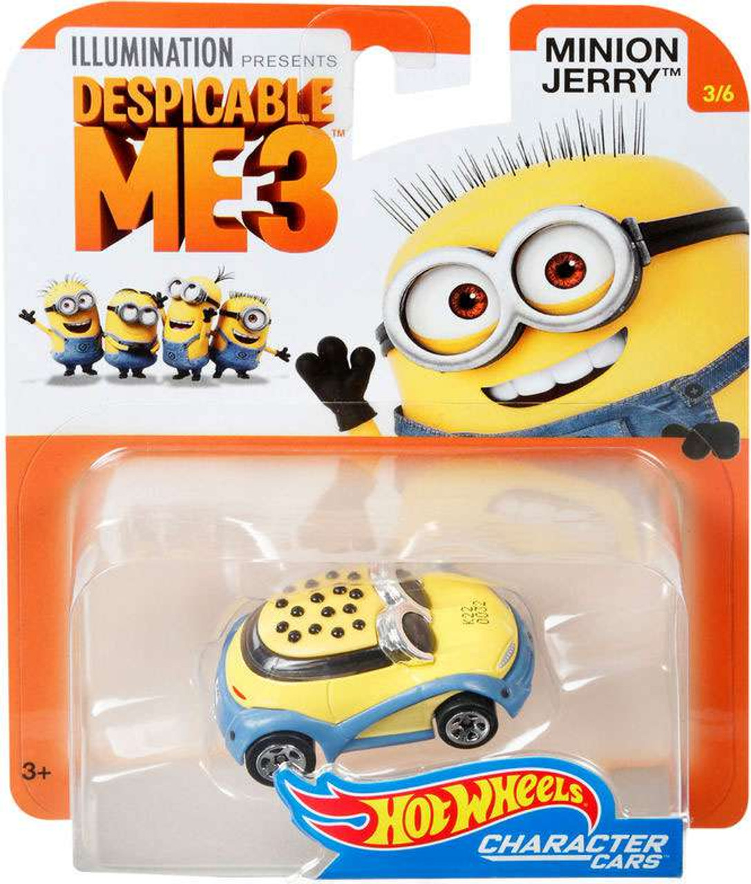 Hot Wheels Despicable Me 3 Minion Jerry 164 Diecast Character Car