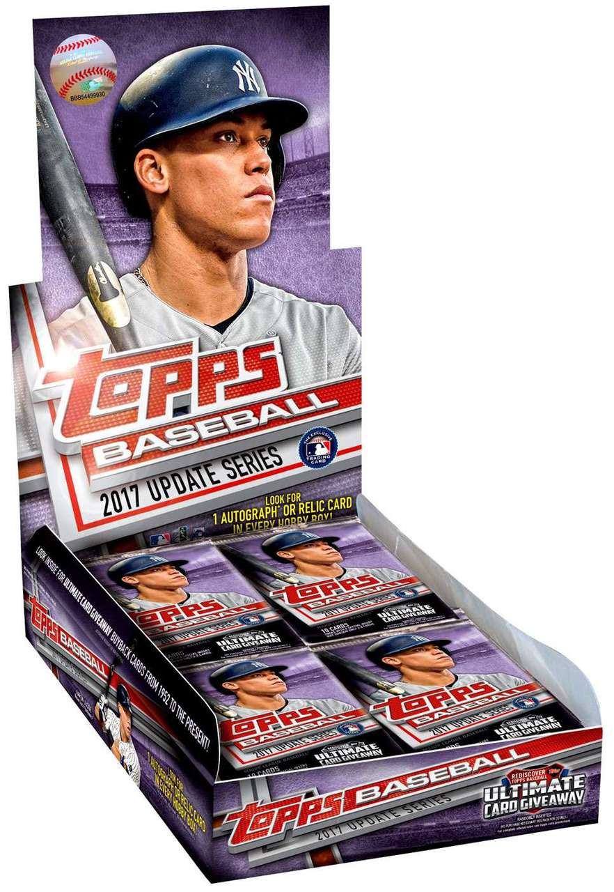 Mlb 2017 Update Baseball Trading Card Hobby Box 36 Packs