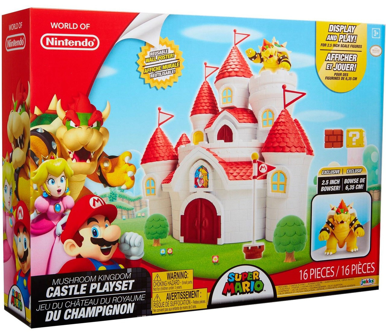 World Of Nintendo Super Mario Mushroom Kingdom Castle Playset Regular Version Jakks Pacific Toywiz