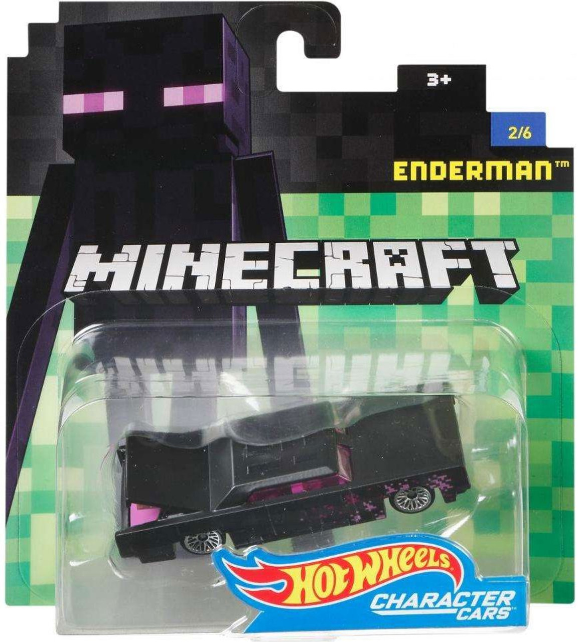 Hot Wheels Minecraft Enderman Diecast Character Car #2/6