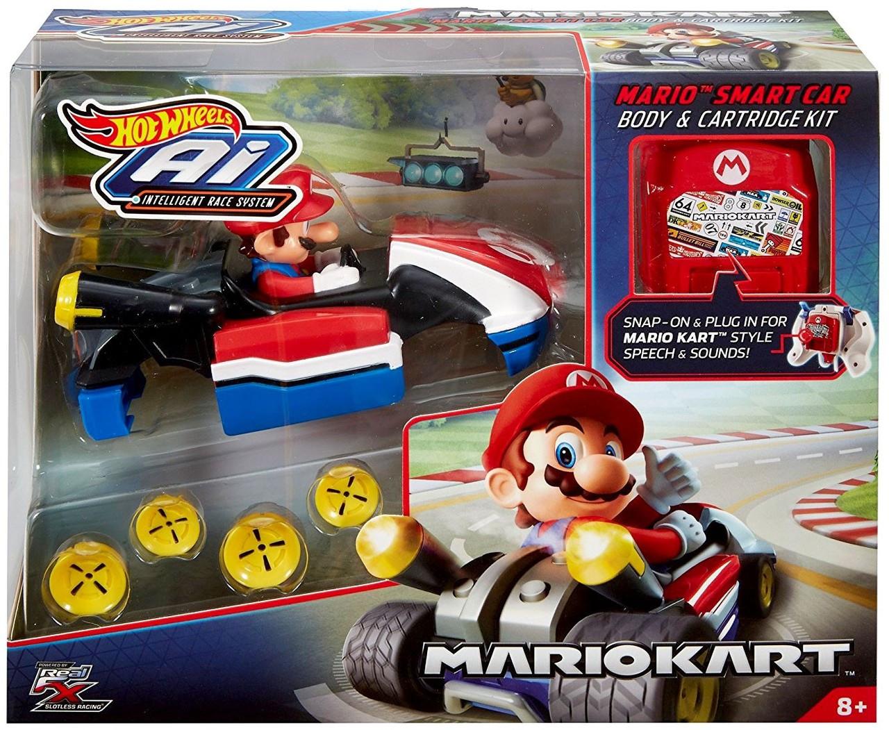 Mario Kart Hot Wheels AI Intelligent Race System Mario Smart Car Body &  Cartridge Kit