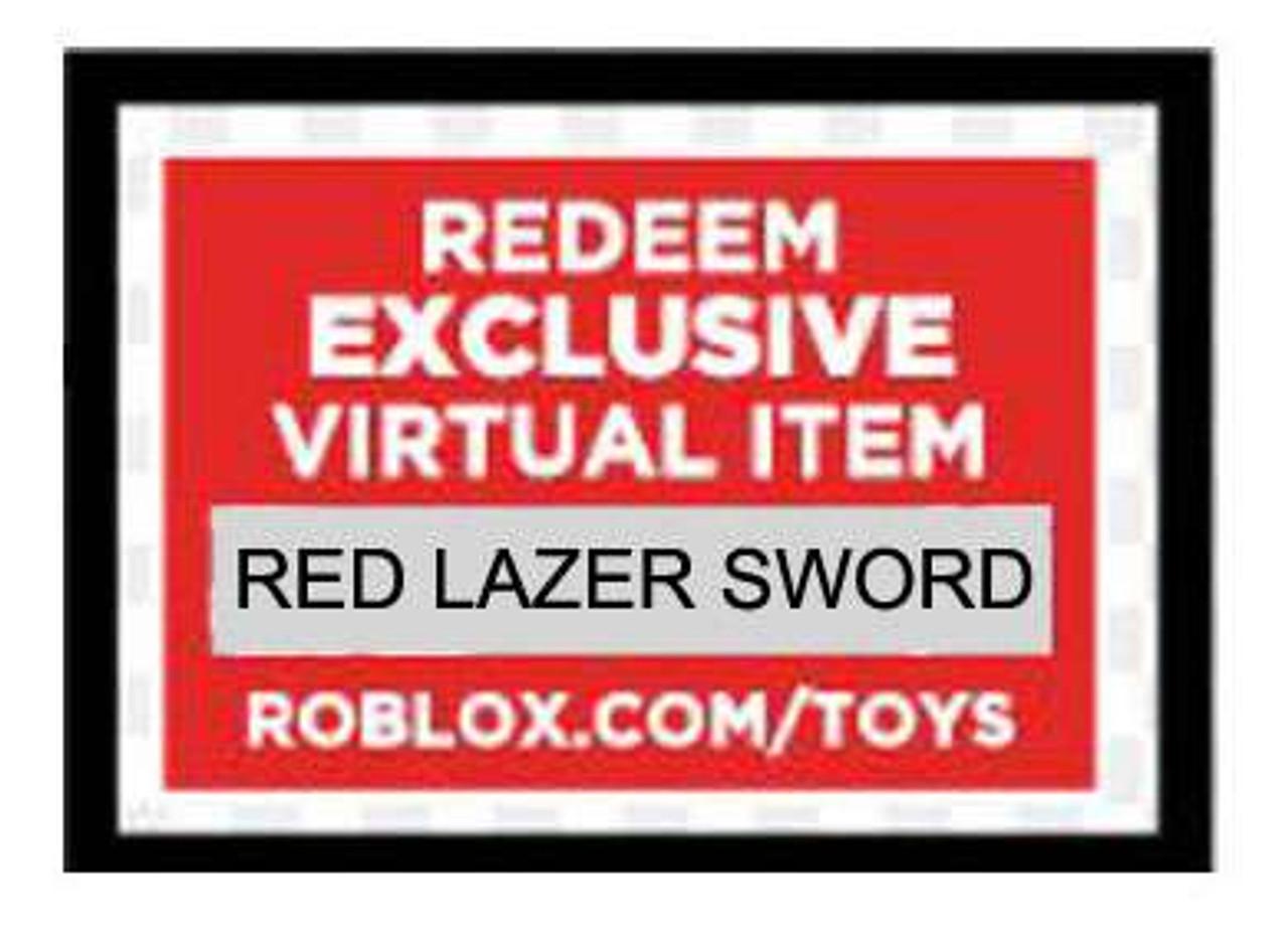Roblox Red Lazer Sword Online Code Jazwares Toywiz