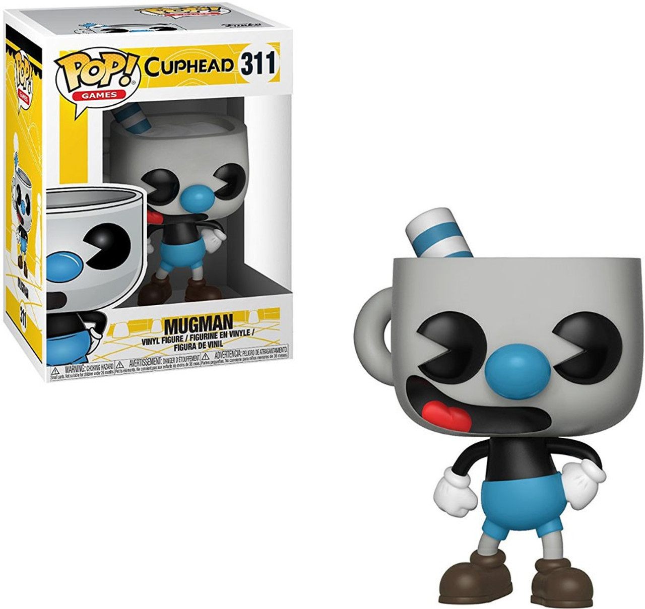 Funko POP Vinyl Figure Cuphead-mugman-New