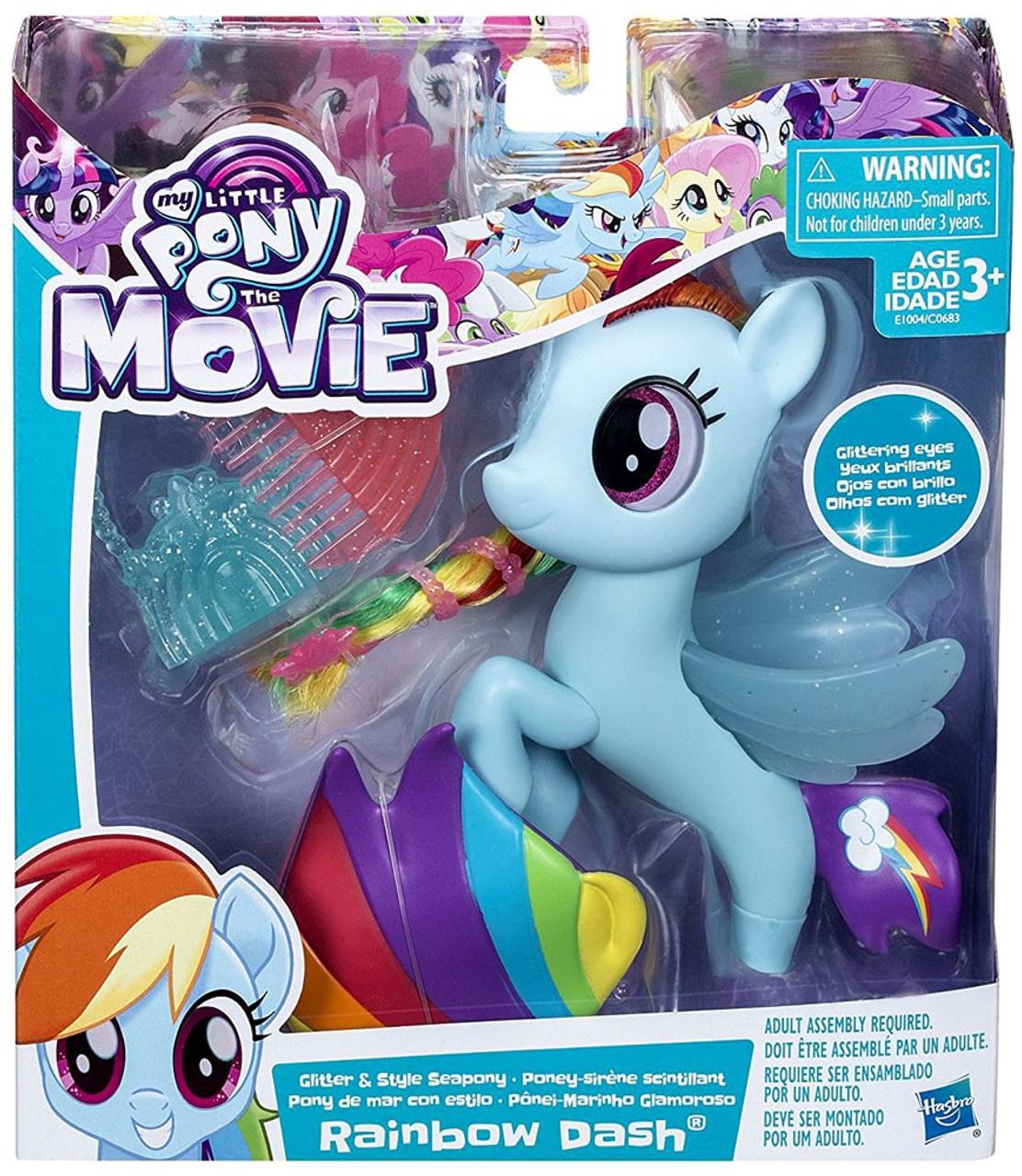 Hasbro My Little Pony The Movie Rainbow Dash Flip /& Flow Seapony Figure New MLP