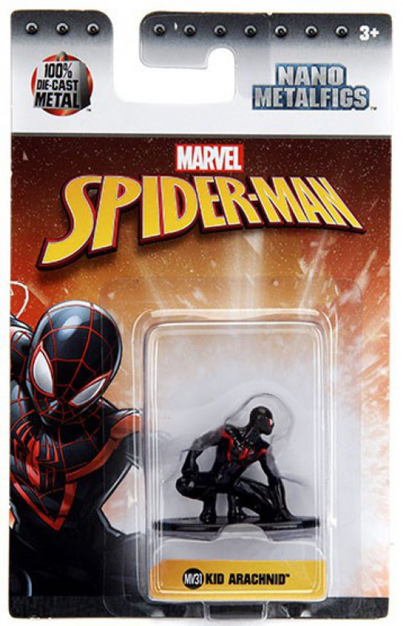 Marvel Nano Metalfigs Black Costume Spider-Man 1.5-Inch Diecast Figure MV2