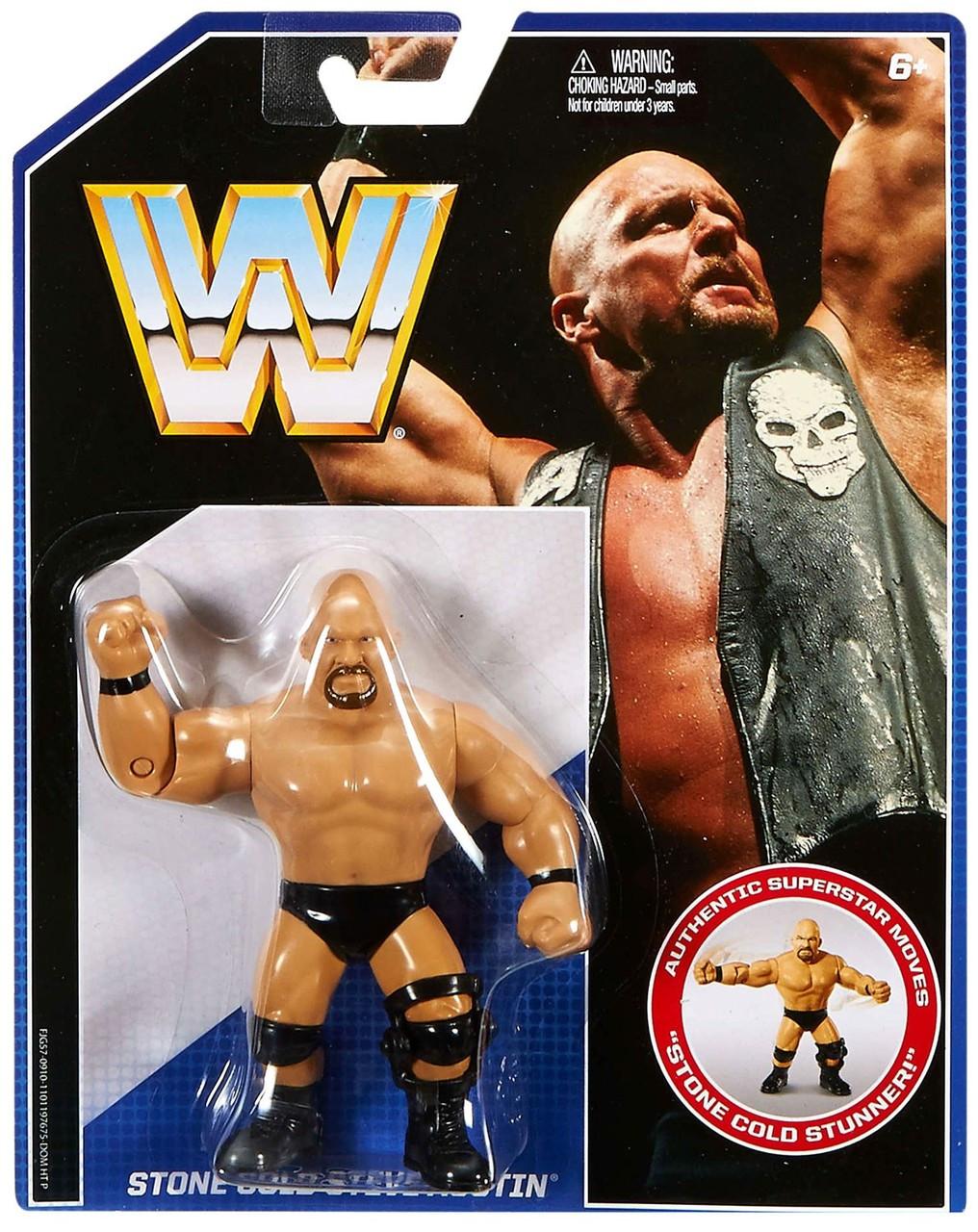 WWE Mattel Retro Series 2-Triple H,The Rock,Mankind,Sting,Stone Cold,Kane-Choose