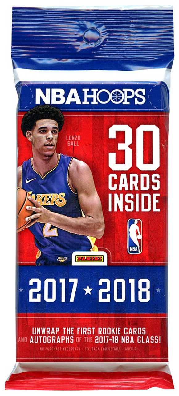 2017 18 Nba Hoops Trading Card Fat Pack