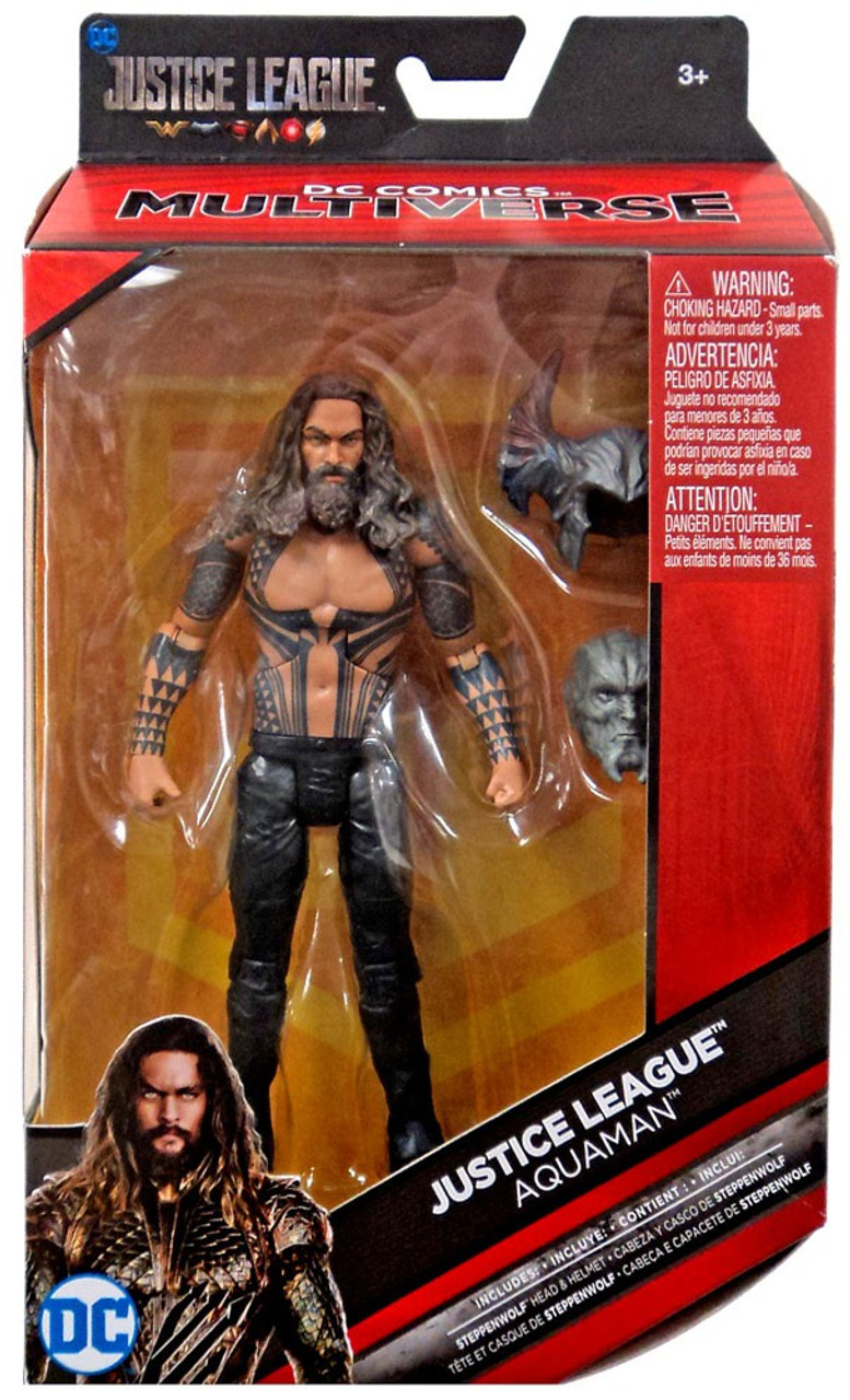 DC Multiverse Justice League AQUAMAN  Action Figure Loose New Steppenwolf