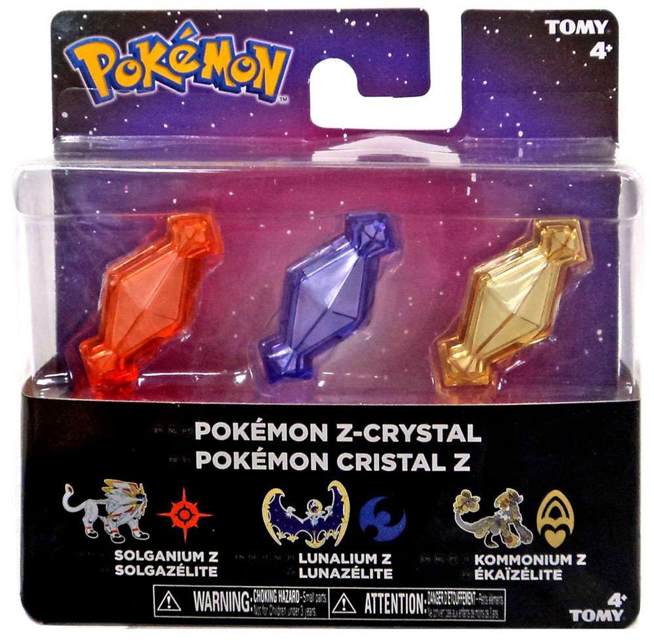 Pokemon Z-Ring Solganium Z, Lunalium Z & Kommonium Z Crystal 3-Pack