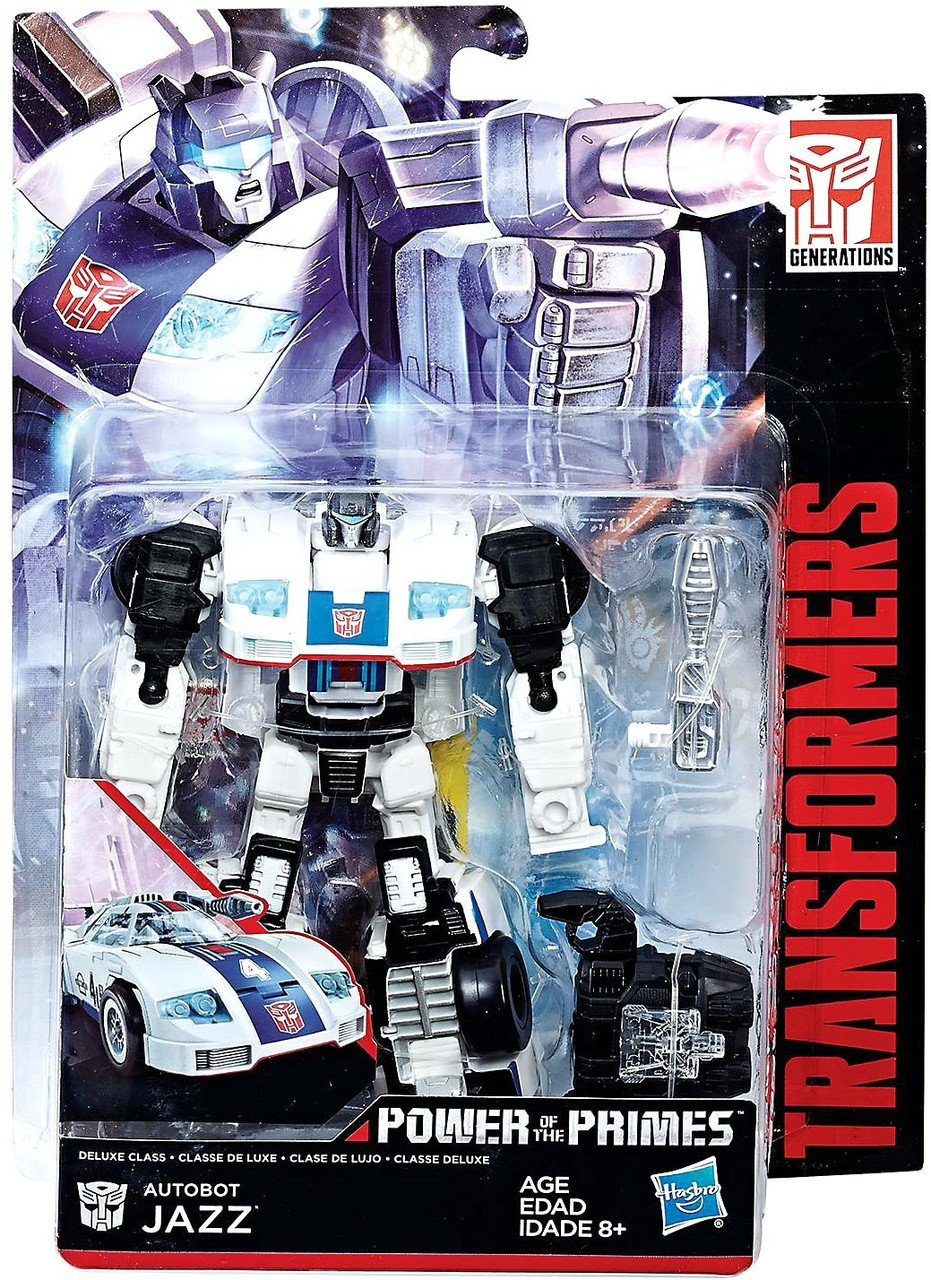 TRANSFORMERS GENERATIONS POWER OF THE PRIMES DELUXE CLASS AUTOBOT JAZZ FIGURE