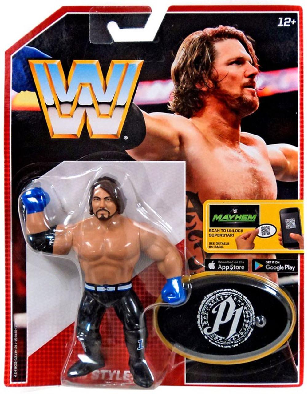 59abb810920 WWE Wrestling Retro AJ Styles Action Figure Mattel Toys - ToyWiz