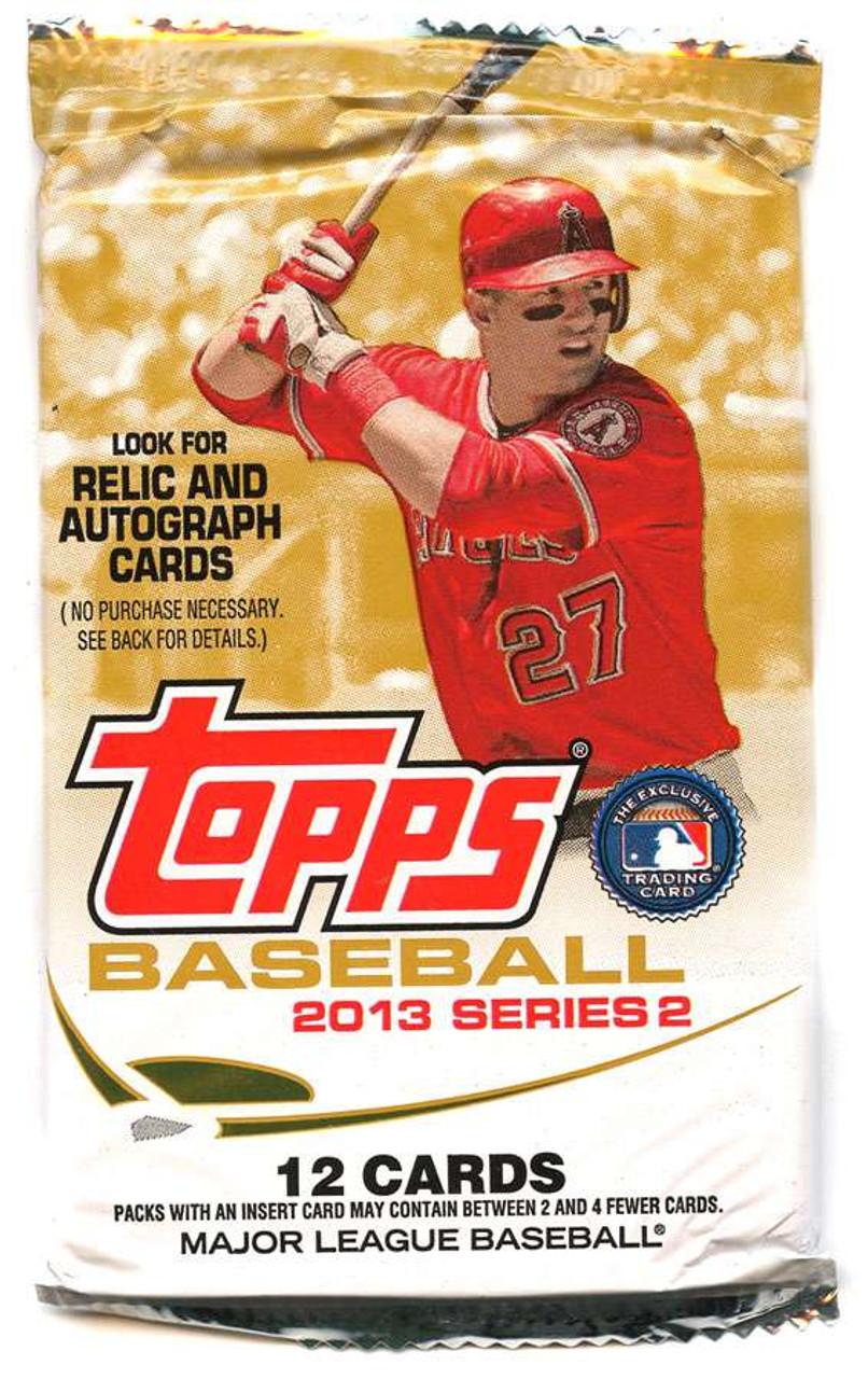 Mlb 2013 Topps Series 2 Baseball Cards Trading Card Pack