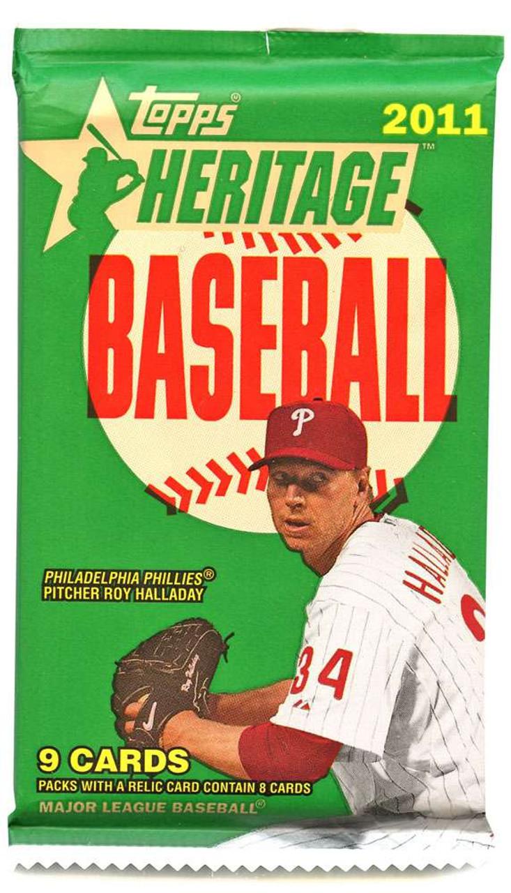 Mlb 2011 Topps Heritage Baseball Trading Card Pack Toywiz