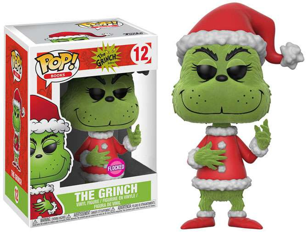 4afad6096fd Funko Dr. Seuss POP Books The Grinch Exclusive Vinyl Figure 12 Flocked -  ToyWiz