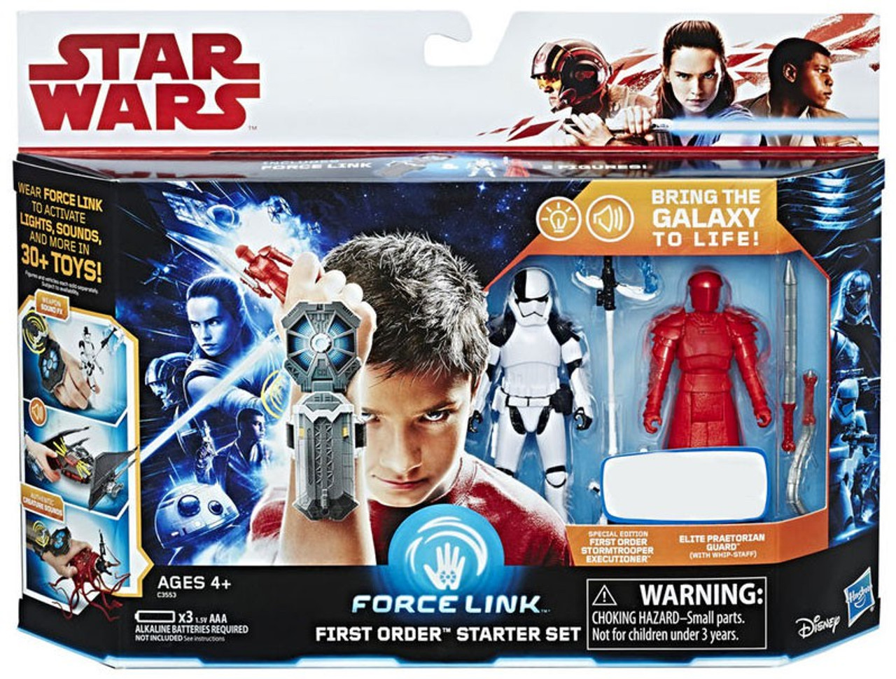 "Star Wars The Last Jedi First Order Flametrooper Force Link 3.75"" Action Figure"