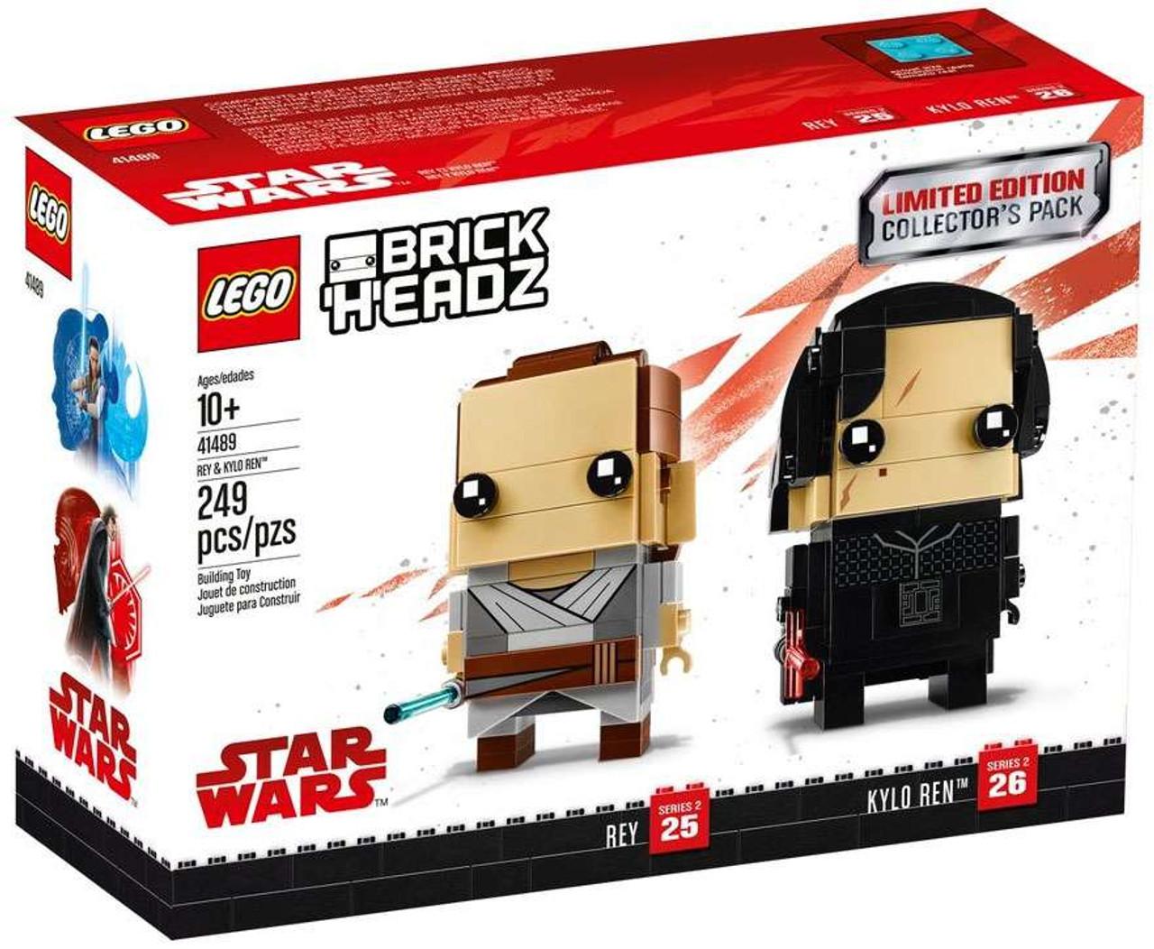 Lego star wars brick headz rey kylo ren set 41489 toywiz