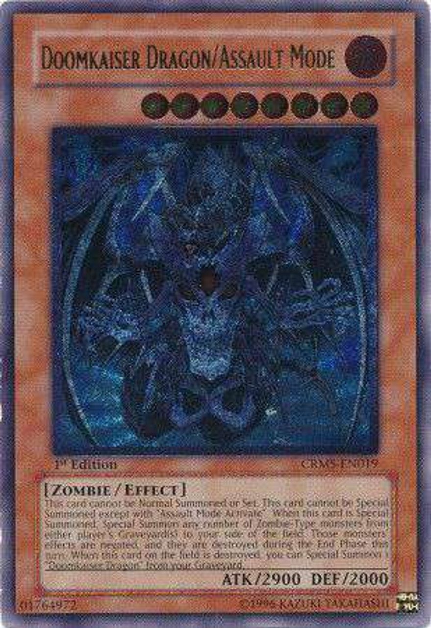 YuGiOh 5D's Crimson Crisis Ultimate Rare Doomkaiser Dragon/Assault Mode  CRMS-EN019