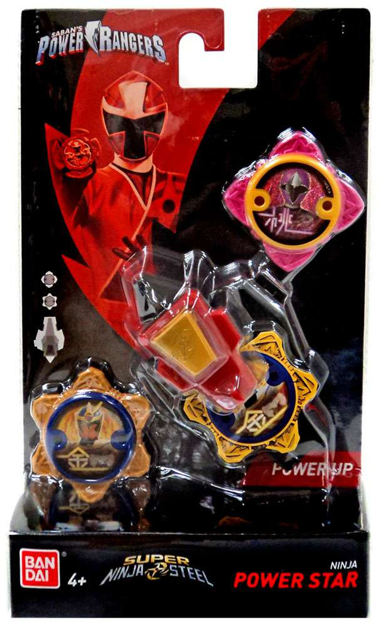 Power Rangers Ninja Steel Power Up Pink Gold Ninja Power Star 2 Pack