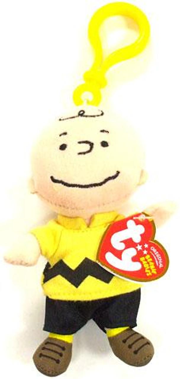 1c6c28b6ffe1c Beanie Babies Peanuts Charlie Brown Key Clip Beanie Plush Ty - ToyWiz