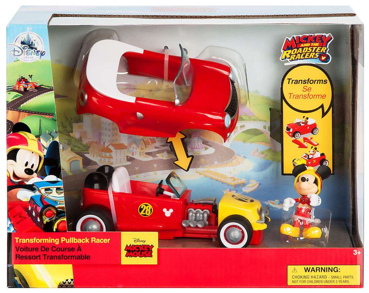 Disney Goofy Transforming Pullback Racer Mickey The Roadster Racers