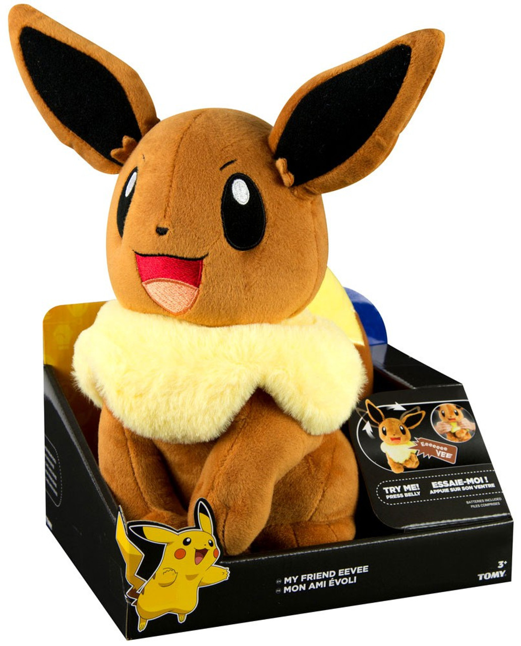 Pokemon My Friend Eevee 10 Talking Plush Tomy Inc Toywiz