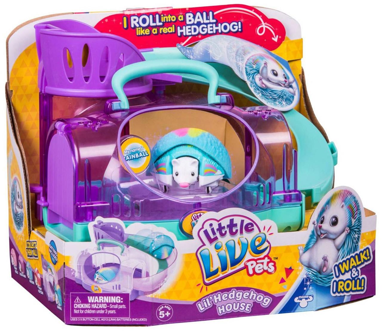 0e048a71c742 Little Live Pets Lil Hedgehog House Figure with Rainball Moose Toys - ToyWiz