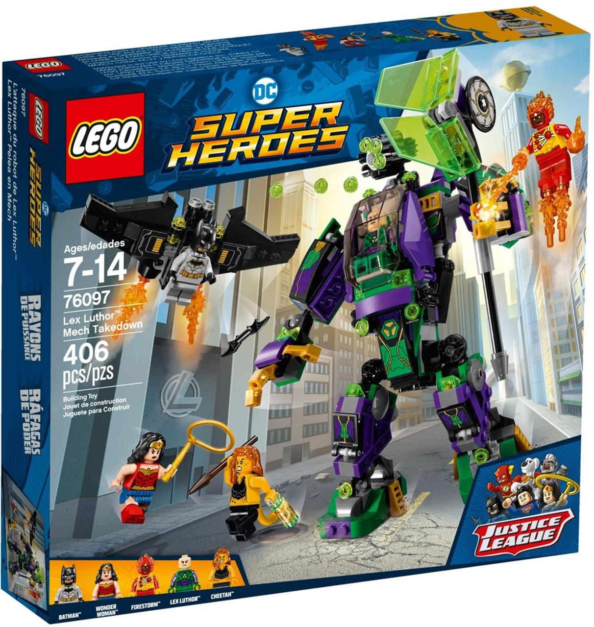Lego Dc Super Heroes Lex Luthor Mech Takedown Set 76097 Toywiz