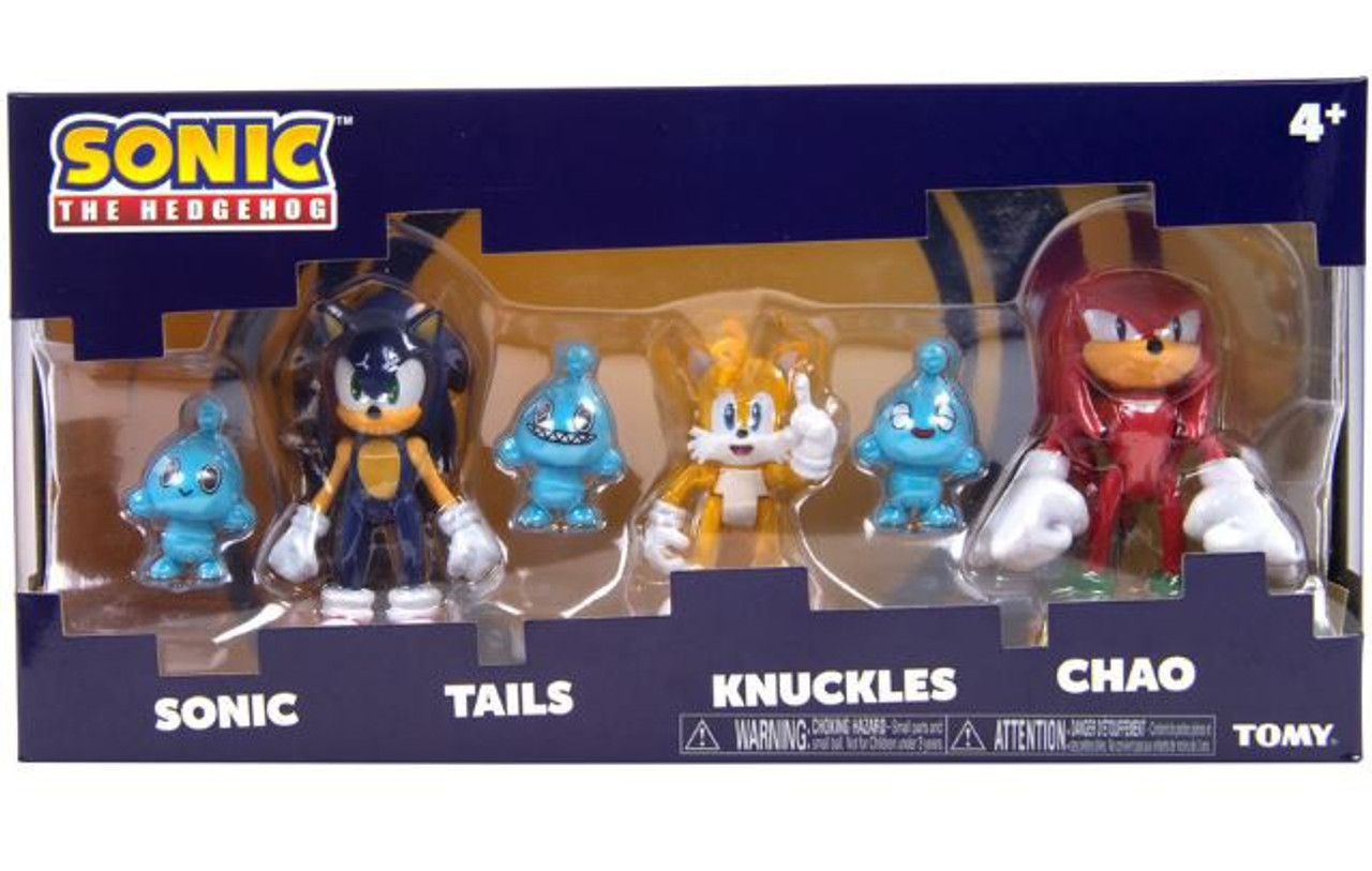 Sonic The Hedgehog Sonic Knuckles Tails 3 Action Figure 3 Pack With 3x Chaos Tomy Inc Toywiz