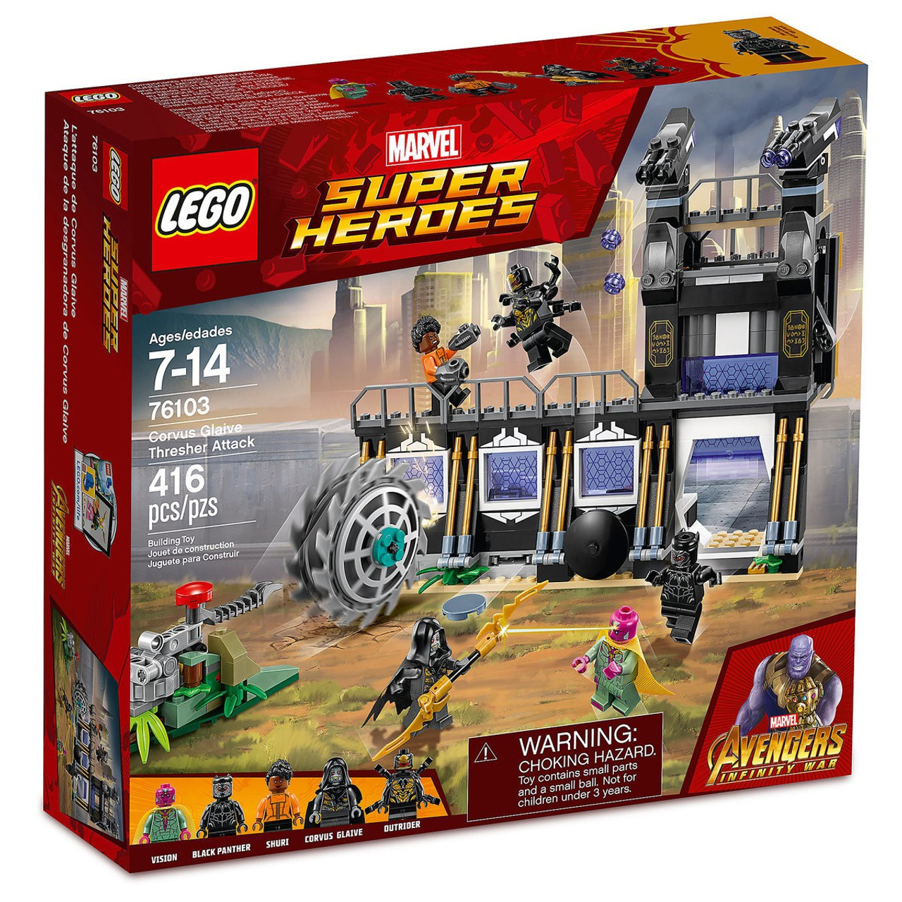 LEGO Marvel Super Heroes Outrider MINIFIG from Lego set #76103 Brand New