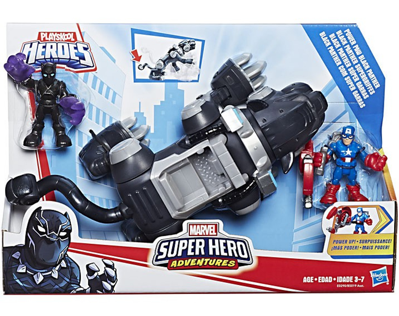 Super Hero Adventures Sha Black Panther Deluxe Vehicle