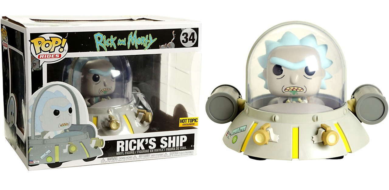 Ride Funko Rick and Morty Rick/'s Ship Exclusive Pop
