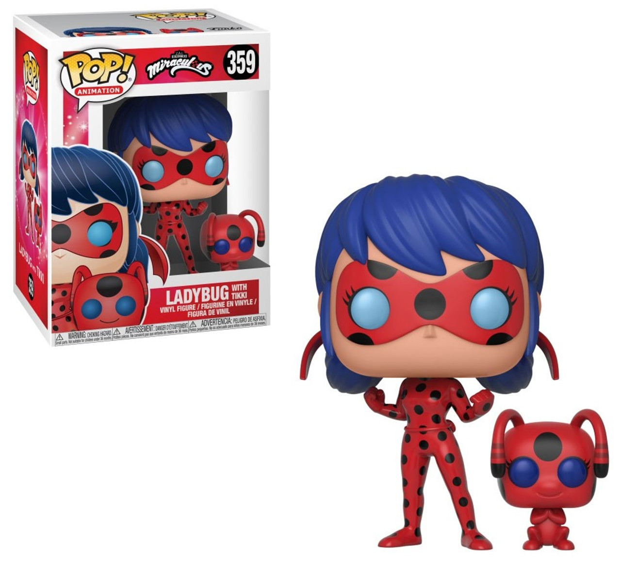 Miraculous-Cat Noir with Plagg Collectible Figure, Funko Pop and Buddy