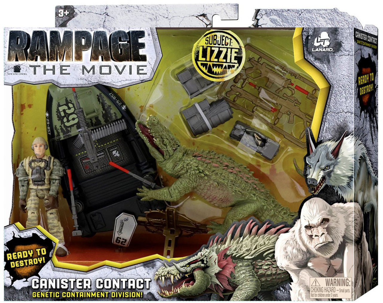 Rampage The Movie Canister Contact Lizzie Exclusive Figure Set