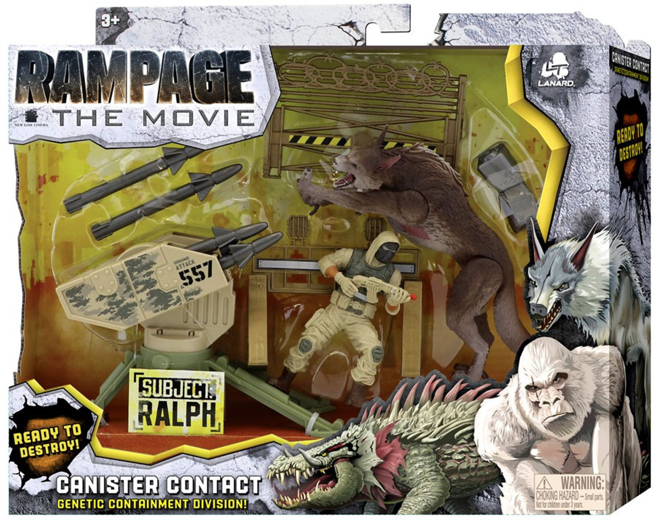Rampage The Movie Canister Contact Ralph Exclusive Figure Set