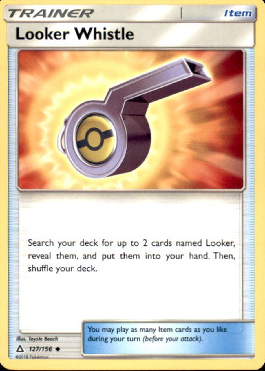 Looker Whistle - Pokemon Sun /& Moon Ultra Prism #127 NEW Reverse Holo
