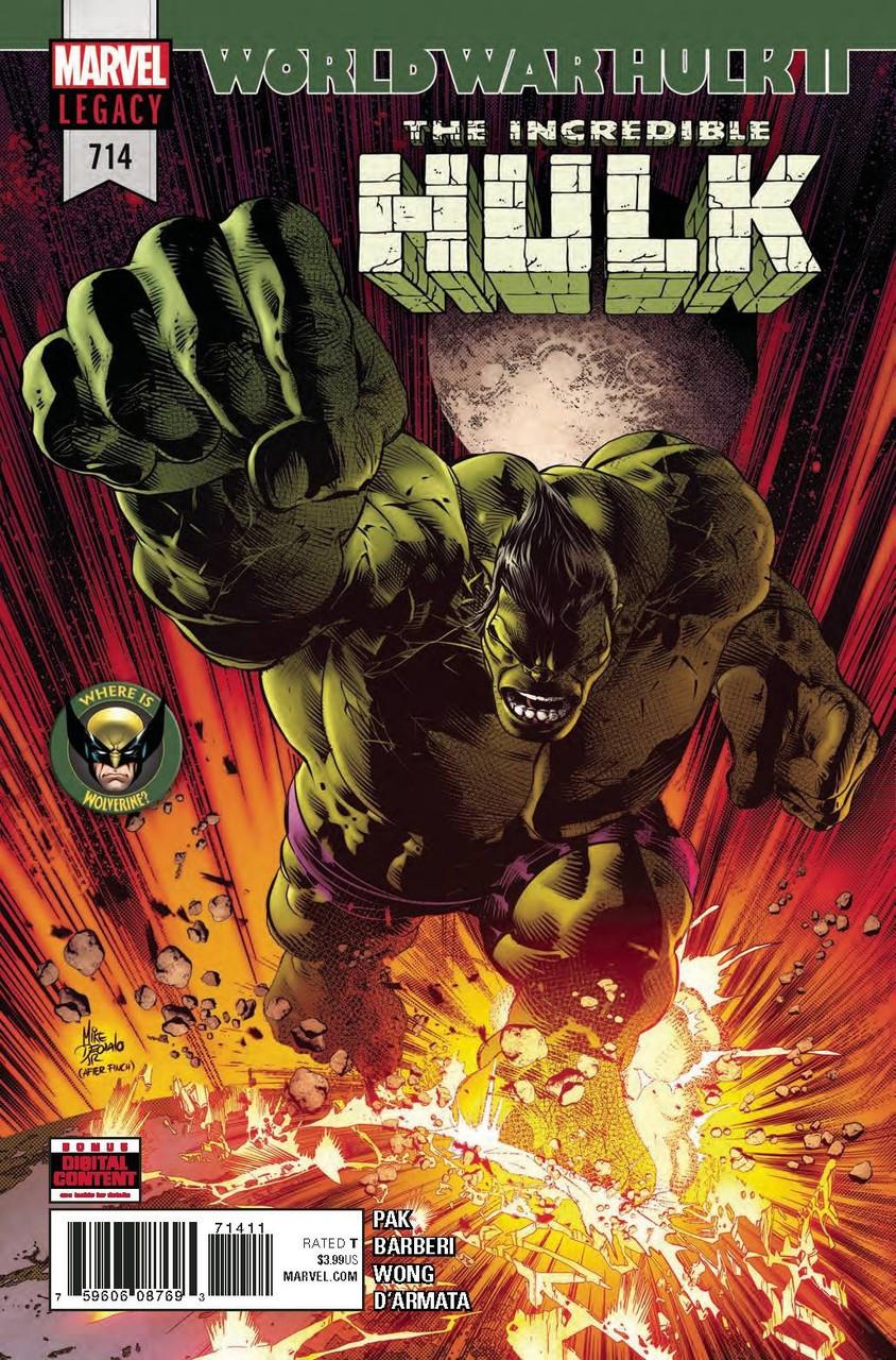 c32a5bed7c1d Marvel Hulk The Incredible Hulk Comic Book 714 - ToyWiz