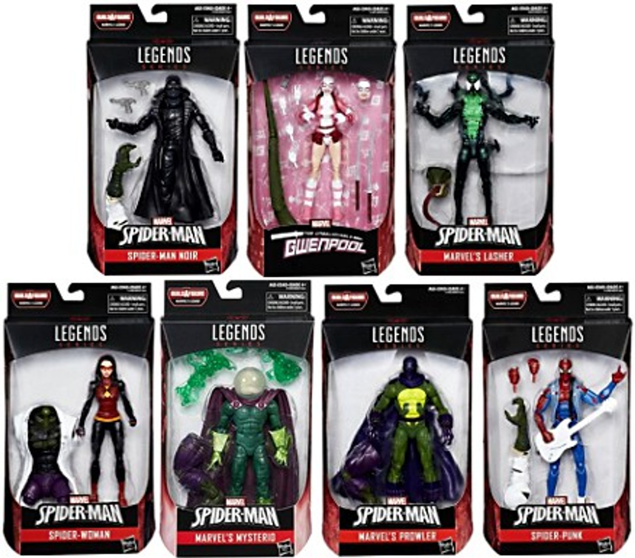 518c9436744f1 Spider-Man Marvel Legends Lizard Series Set of 7 Action Figures