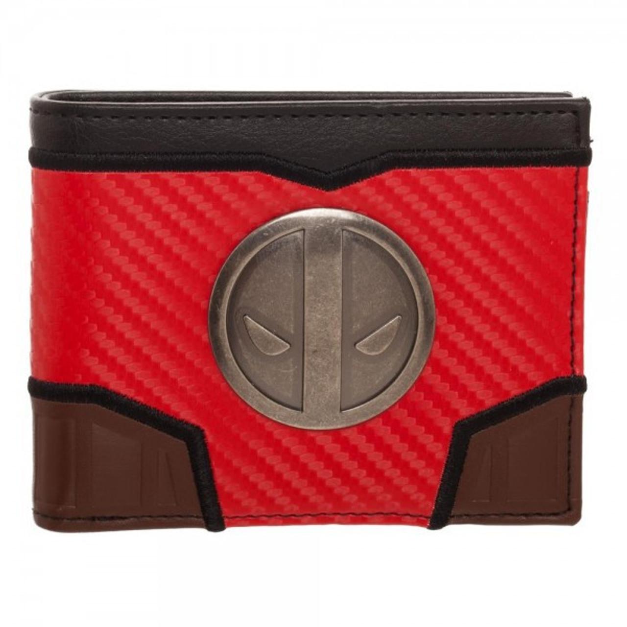 Marvel Avengers Metal Logo Black Bi-Fold Wallet AOU NEW