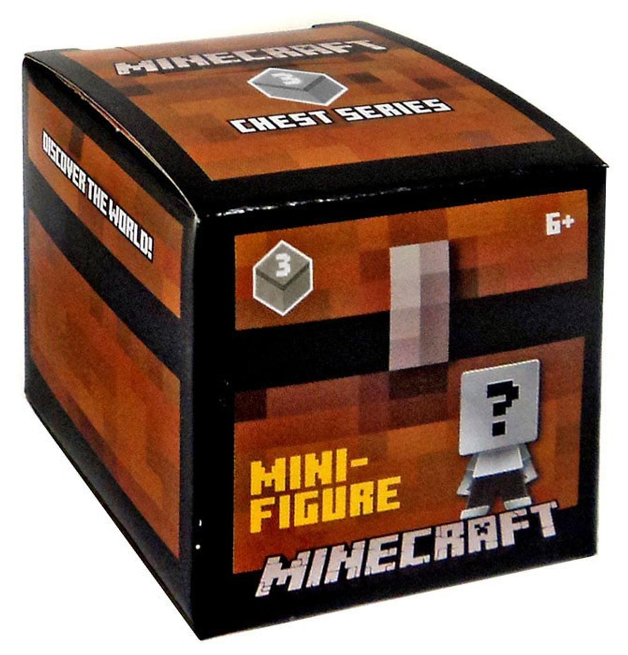 24 packs Minecraft poitrine Série 3 Mystery Box Gray