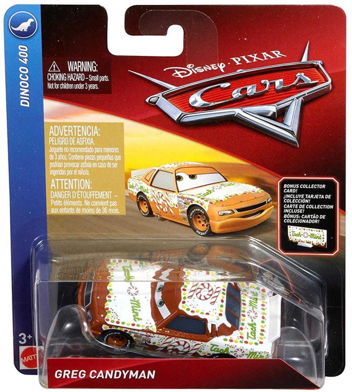 Disney Pixar Cars Cars 3 Dinoco 400 Greg Candyman 155 Diecast Car