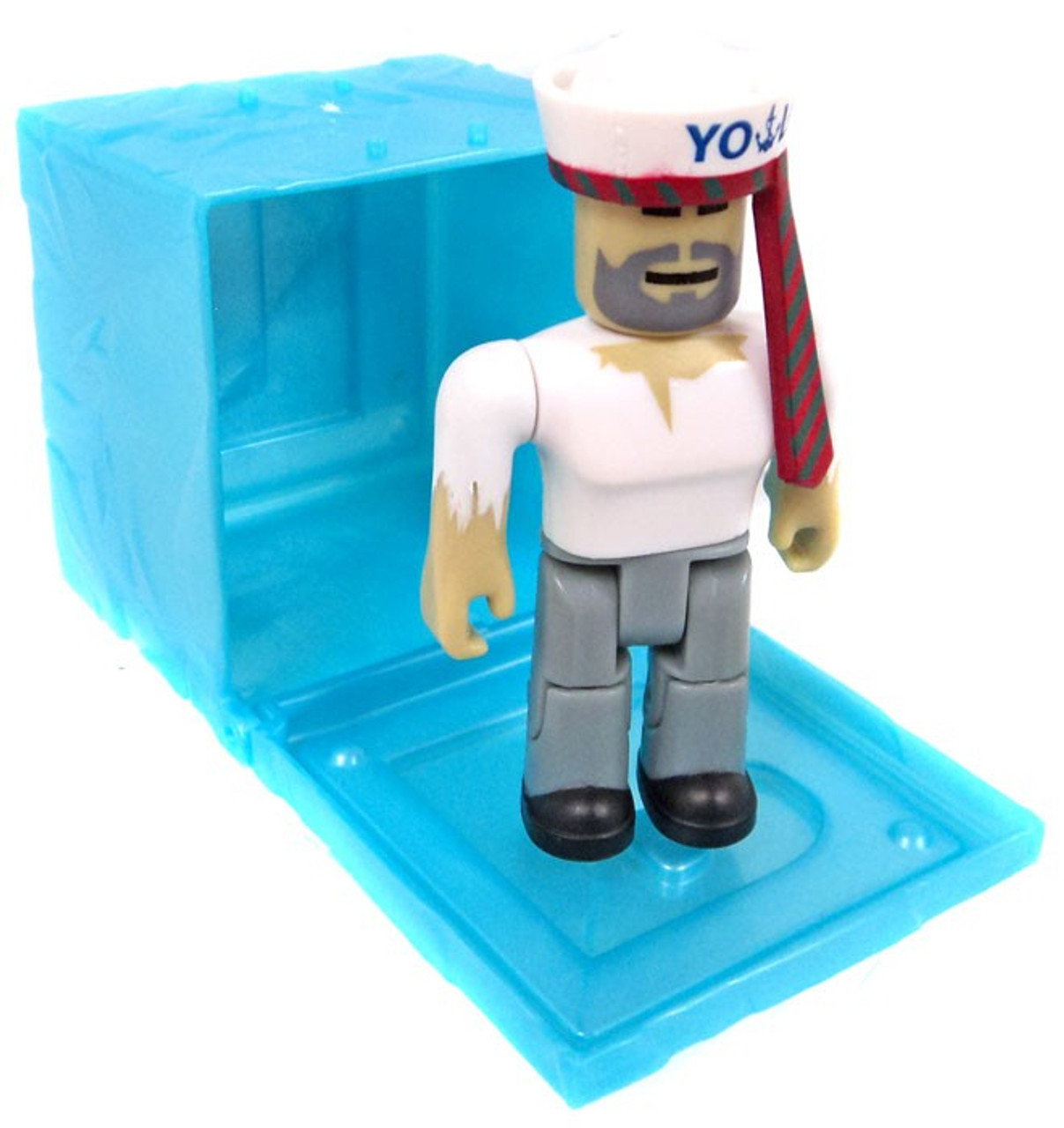 Roblox Series 3 Patient Zero Mini Figure Without Code No Packaging - Roblox Red Series 3 Captain Hoover Mini Figure Blue Cube With Online Code Loose