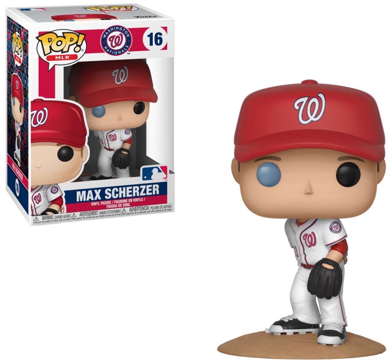 39376e39658 Funko Major League Baseball Washington Nationals Funko POP MLB Max Scherzer Vinyl  Figure 16 - ToyWiz