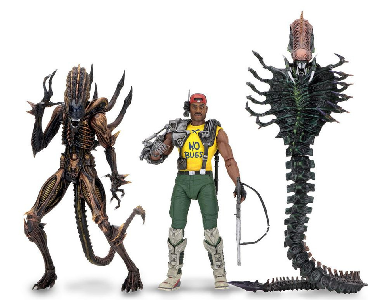 NECA Aliens Series 13 Space Marine Sgt  Apone, Snake Alien, Scorpion Alien  Set of 3 Action Figures