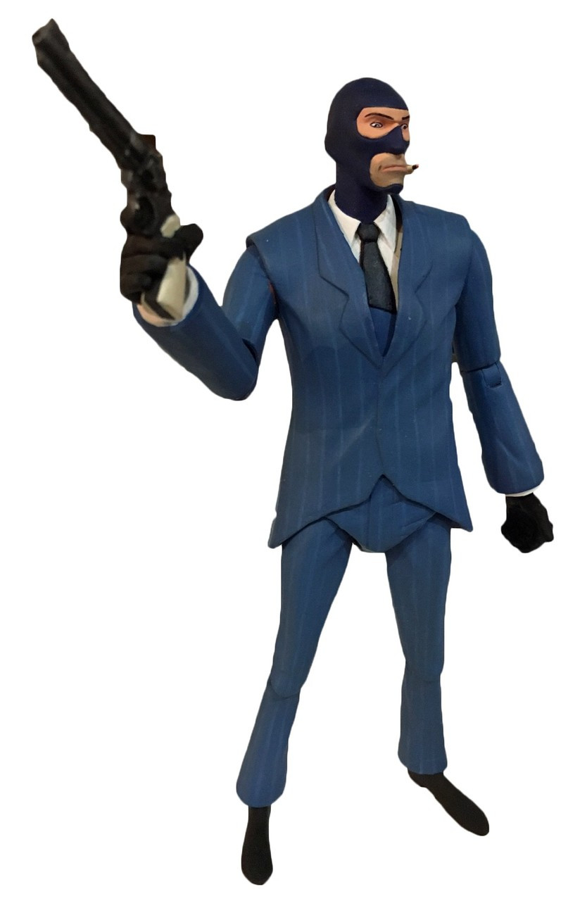 NECA Team Fortress 2 BLU Series 3.5 The Spy 7 Action Figure - ToyWiz