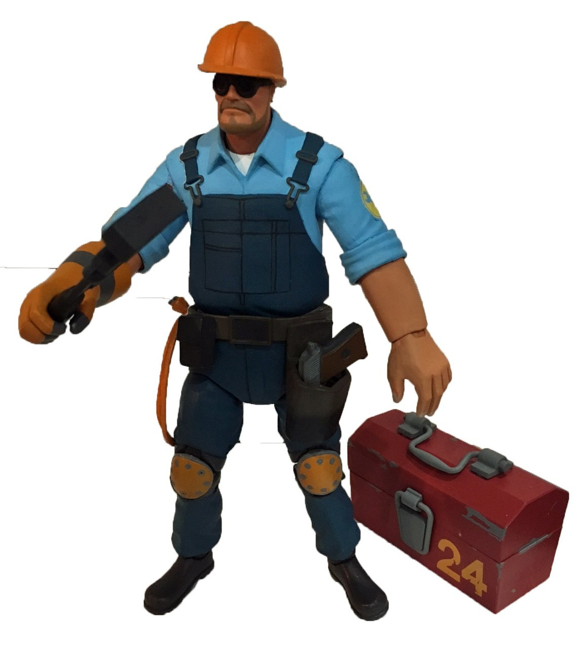 Neca Team Fortress 2 Blu Series 3 5 The Engineer 7 Action Figure