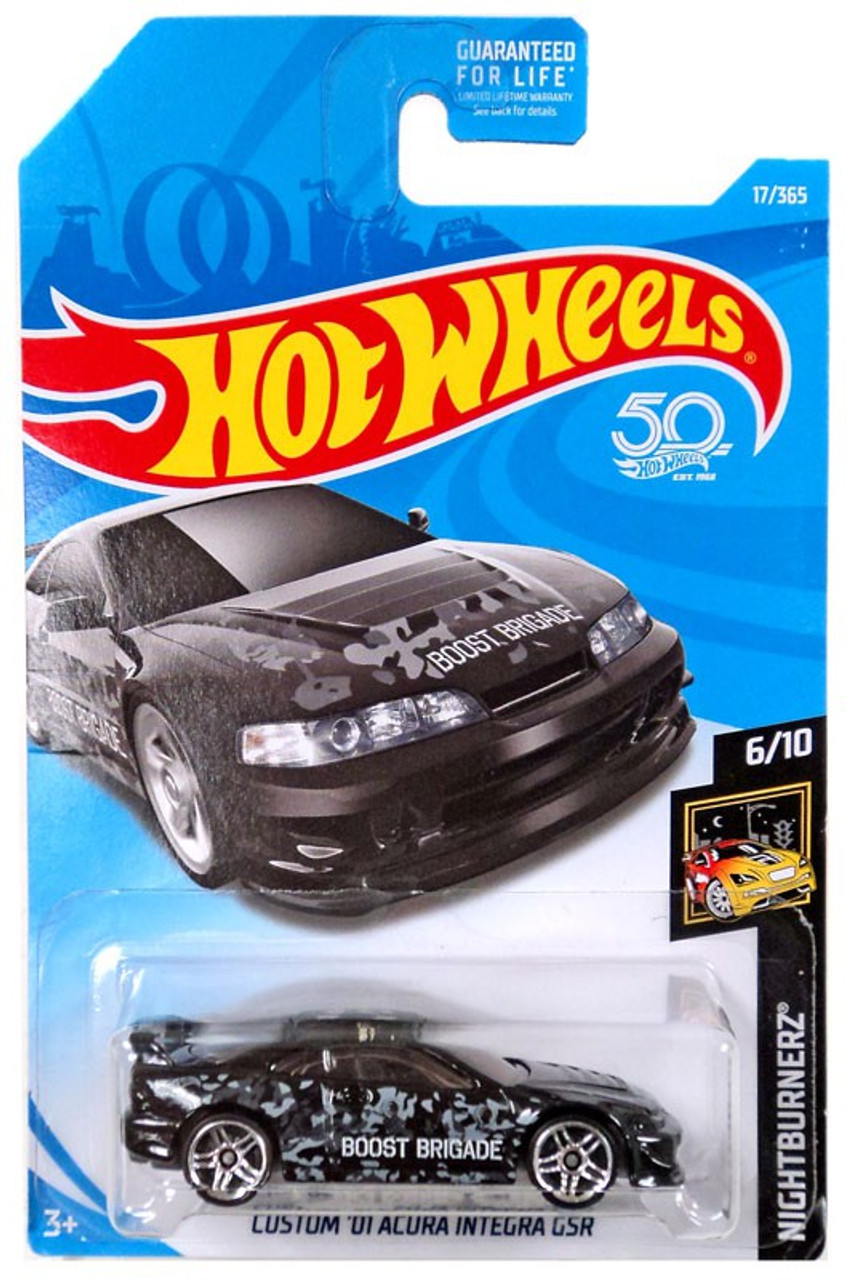 Hot Wheels 50th Anniversary Nightburnerz Custom 01 Acura Integra Gsr