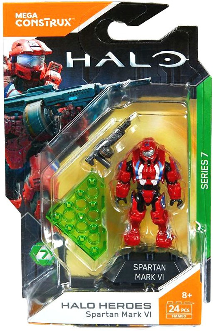 Mega Bloks Halo Mega Construx Heroes Series 7 Spartan Mark VI Mini Figure