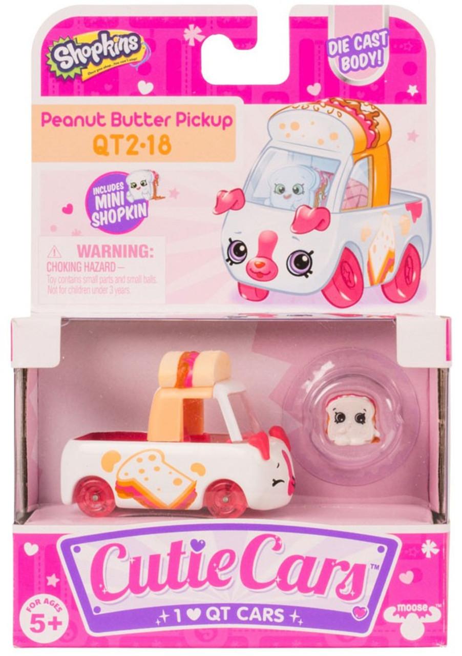 Shopkins Cutie Cars Peanut Butter Pickup Figure Pack QT2 ...